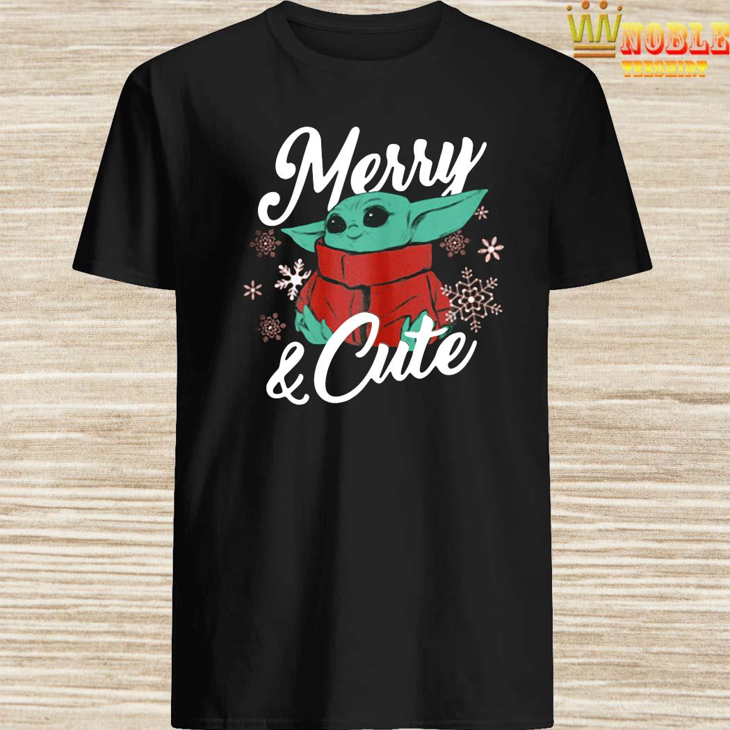 Baby Yoda Christmas The Child Merry & Cute 2020 Shirt