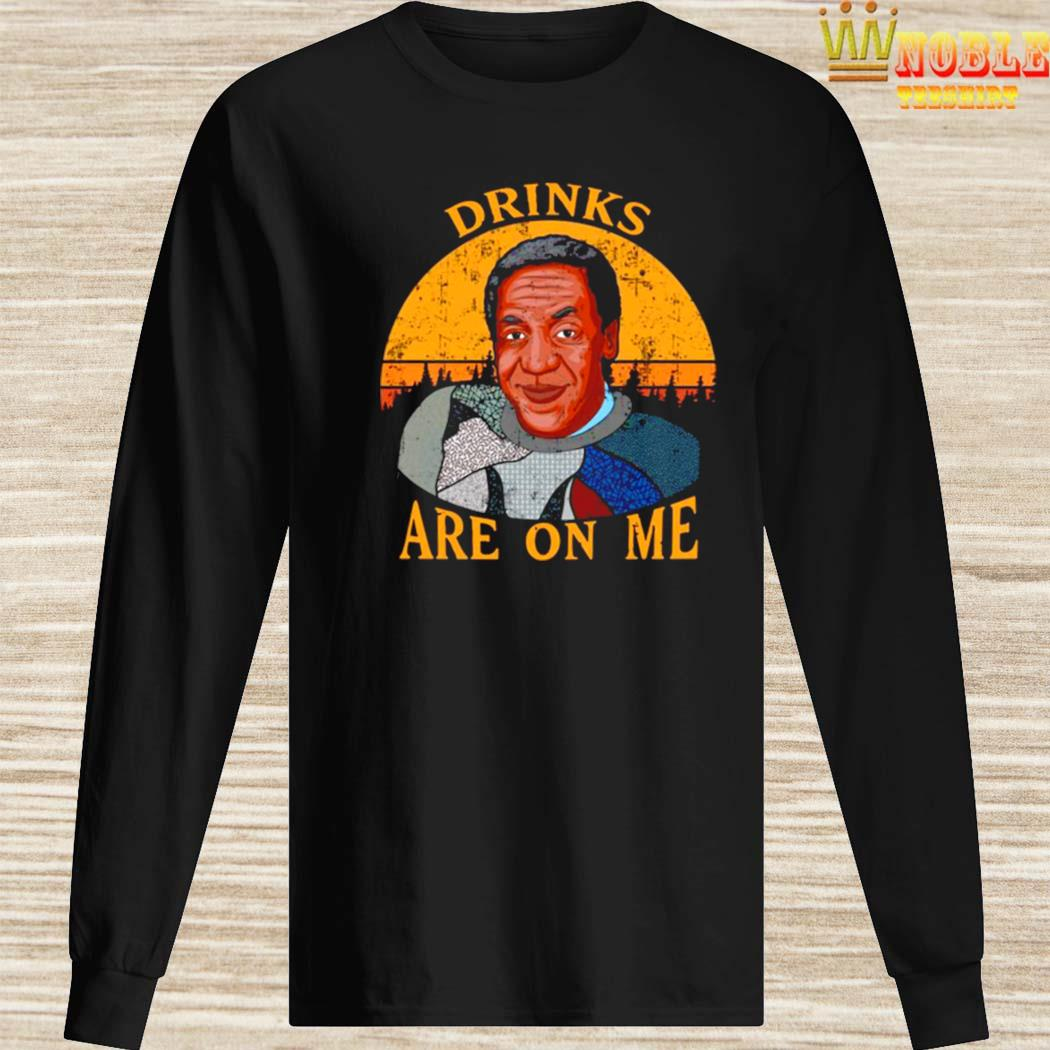 Bill Cosby Drinks Are On Me Vintage Shirt Long Sleeved