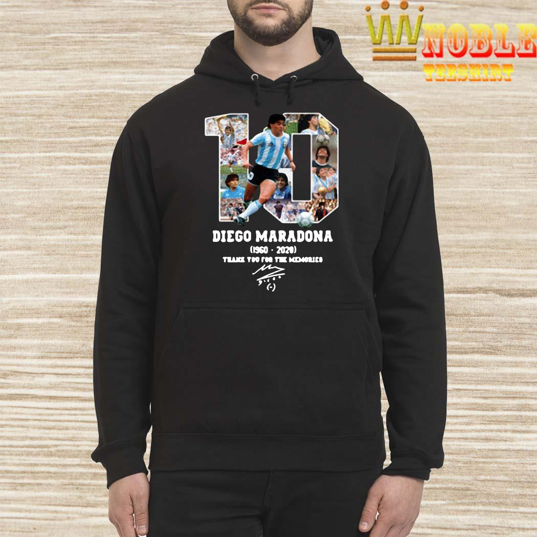 Diego Maradona Thank You For The Memories 1960-2020 Shirt Hoodie