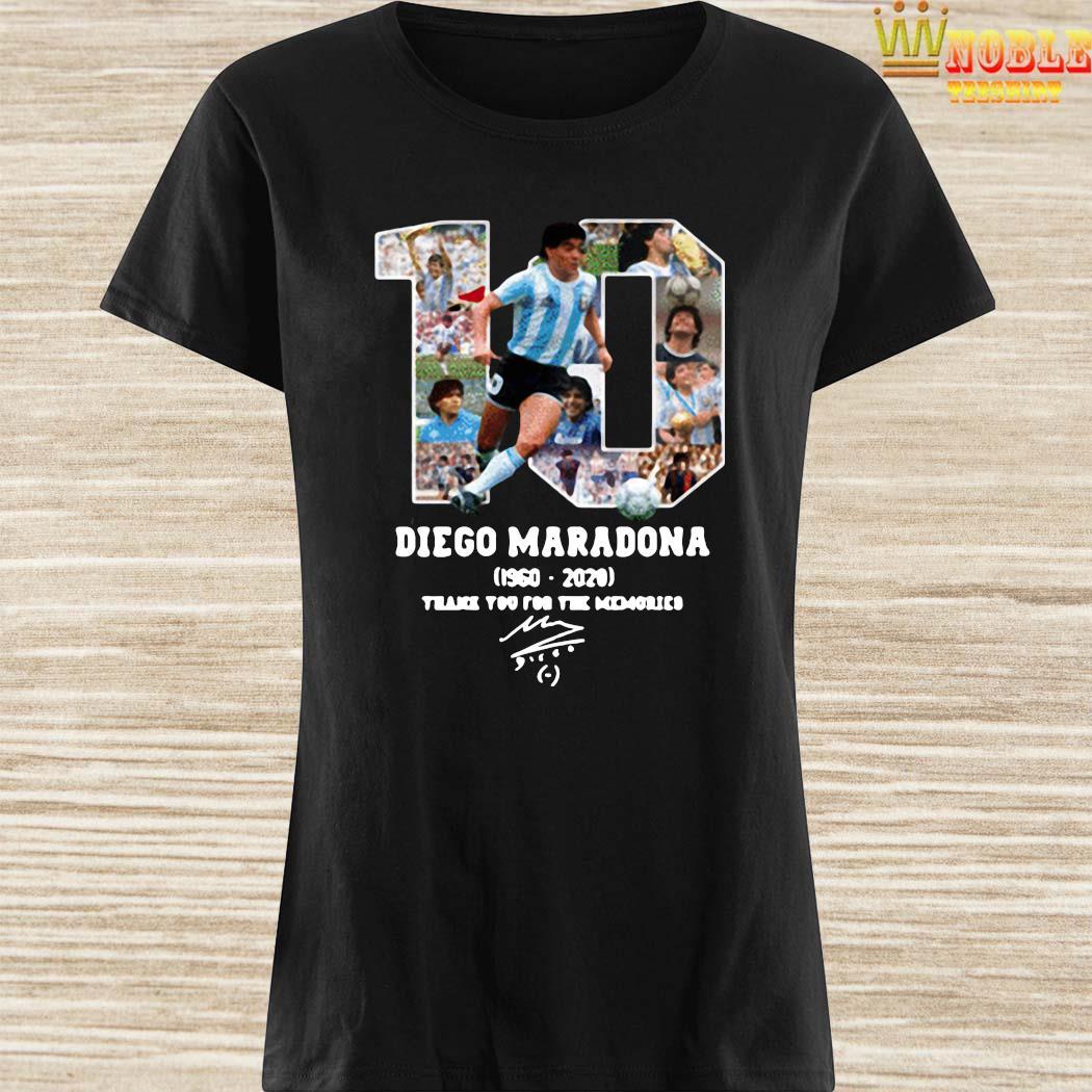 Diego Maradona Thank You For The Memories 1960-2020 Shirt Ladies Shirt