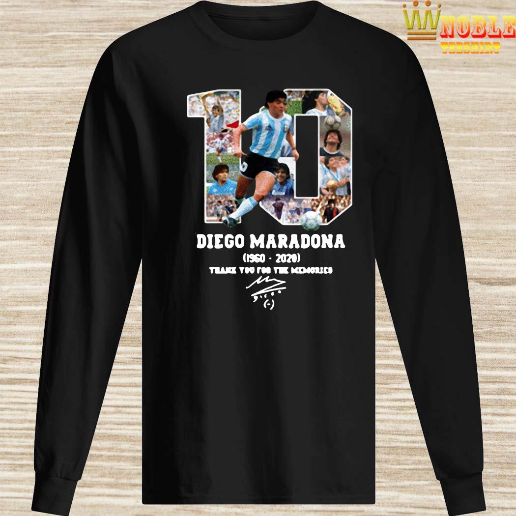 Diego Maradona Thank You For The Memories 1960-2020 Shirt Long Sleeved