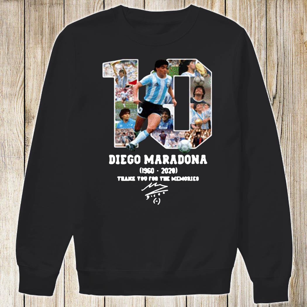 Diego Maradona Thank You For The Memories 1960-2020 Shirt Sweatshirt
