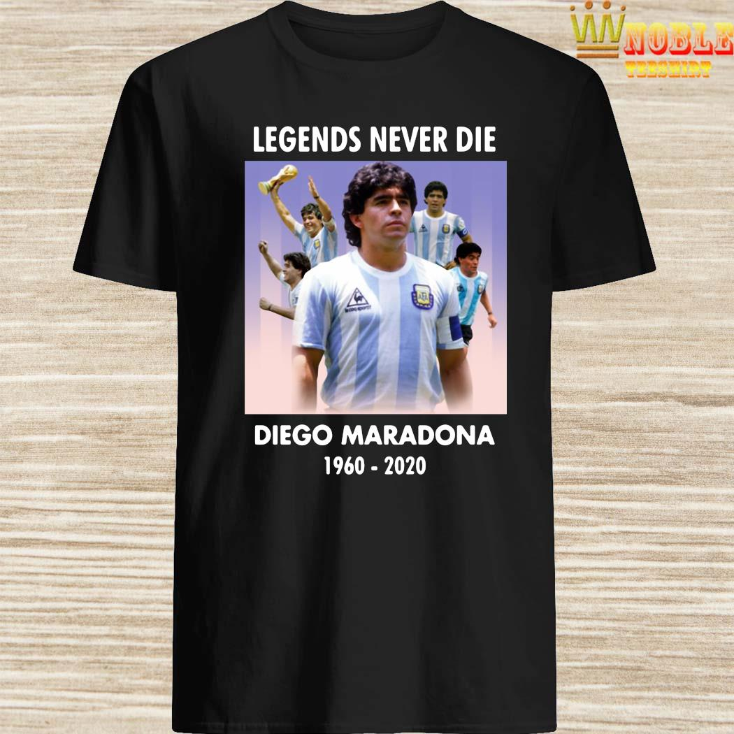 Legend Never Die Rest In Peace Diego Maradona Shirt