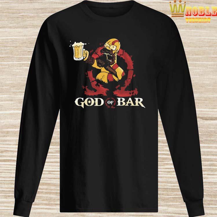 Homero Simpson God Of War Shirt Long Sleeved