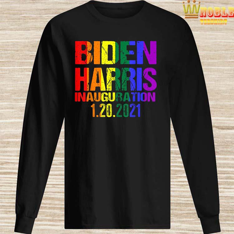 Inauguration Day 2021 Joe Biden Kamala Harris LGBT Pride Shirt Long Sleeved