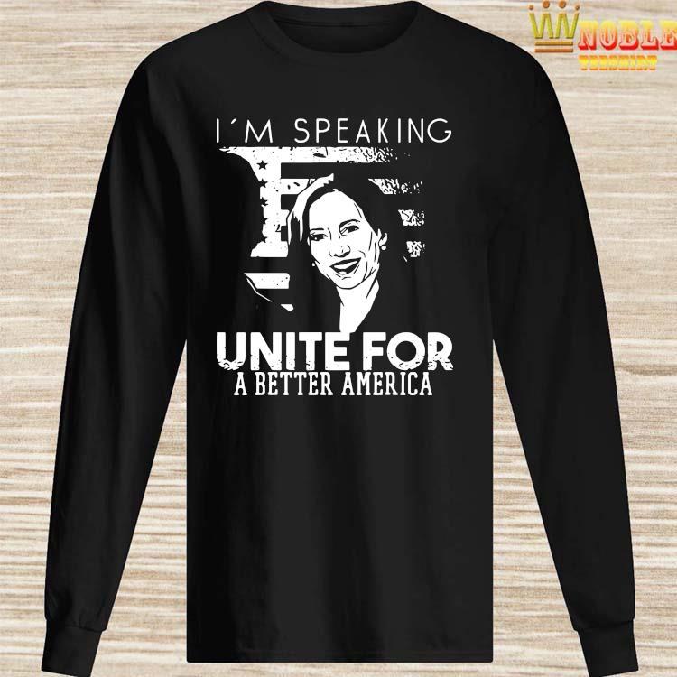 Kamala Harris I'm Speaking Quote Shirt Long Sleeved