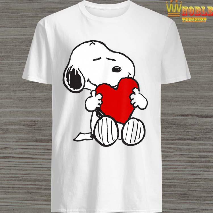 T-shirt peanuts valentine snoopy hugging heart t-shirt Sweatshirt L.Sleeve Hoodie