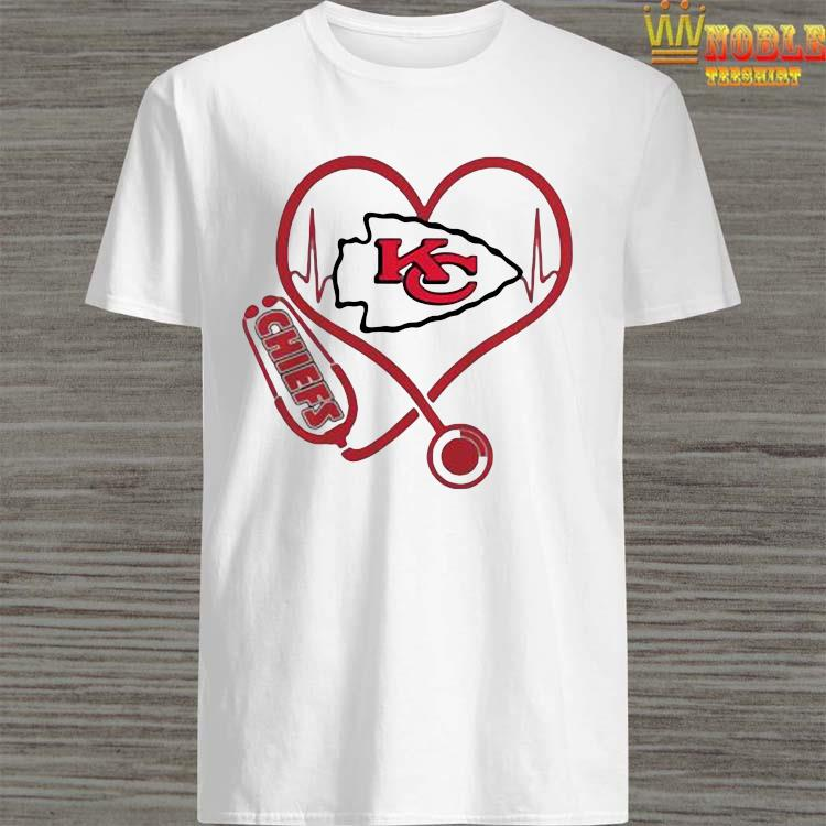Perfect Kansas City Chiefs Nurse Stethoscope Heart Shirt