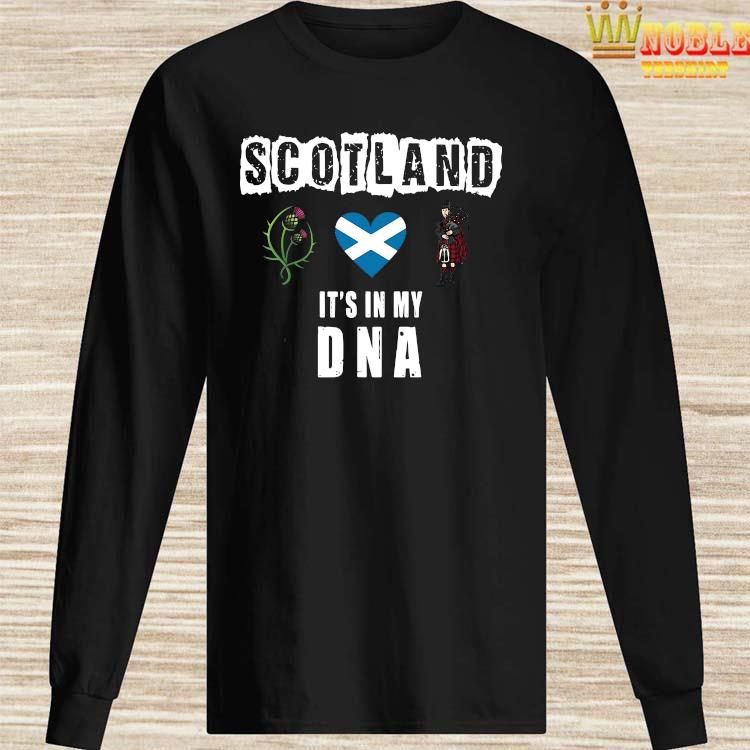 Scotland It's In My DNA Shirt Long Sleeved